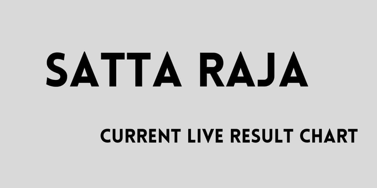 Read more about the article Satta raja result chart